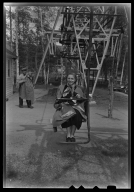 Margaret Truman on chair lift