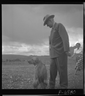Harry Truman with dog, 1948