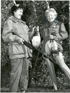 Mary and Friend Hunting Ducks