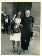 Hemingway with Woman in Spanish Clothing