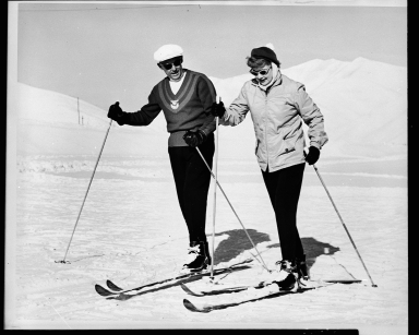 Sigi Engl and Lucille Ball on Dollar mountain, 1960