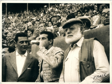 Hemingway and Bullfighter Luis Miguel Dominguin at Bullfight