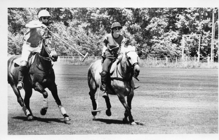 [Polo riders., Wood River Journal photo morgue.]