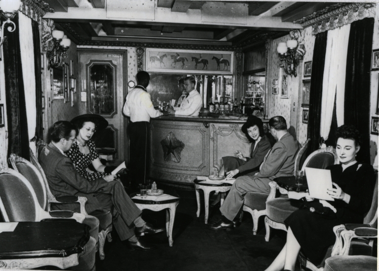 The Little Nugget bar car of the Union Pacific City of Los Angeles streamliner.