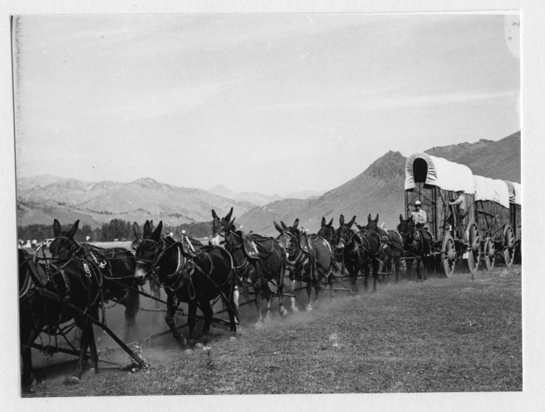 Big hitch parade staging area just north of Ketchum, ID