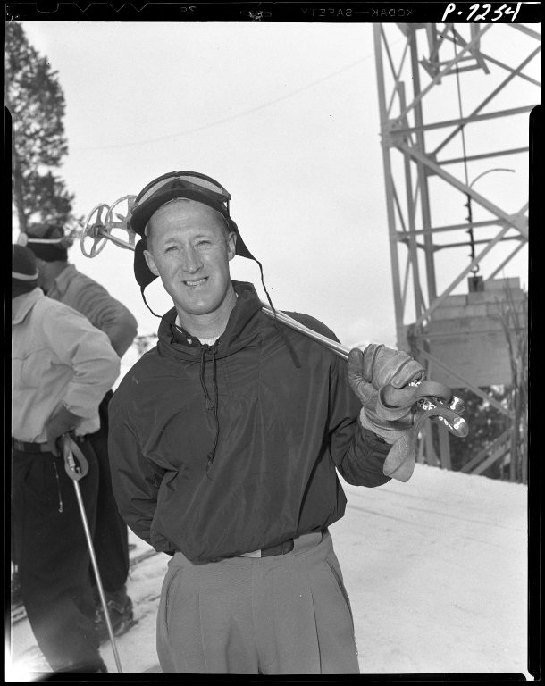 Barney McLean and others at the Harriman Cup Race, 1948.
