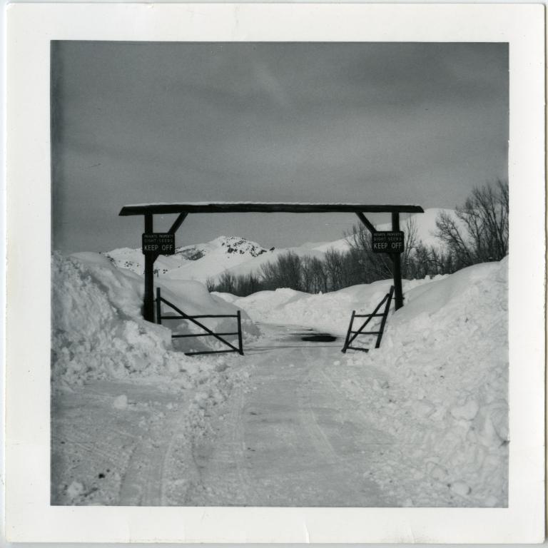 Gate in Winter in Ketchum