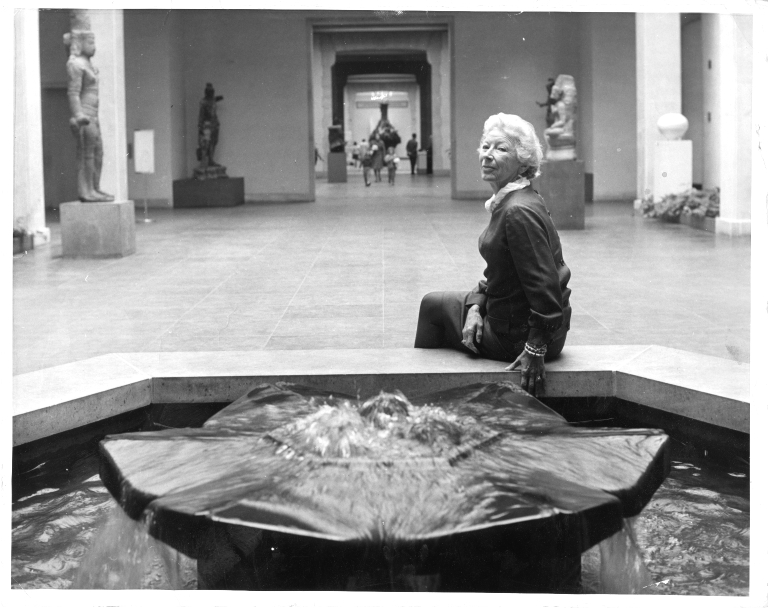 Mary Hemingway at a Museum