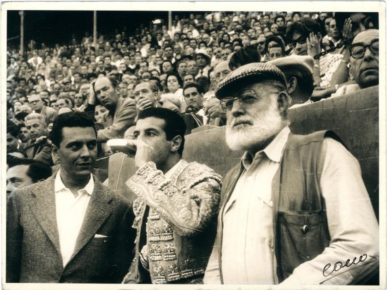 Hemingway and Bullfighter Luis Miguel Dominguin at Bullfight