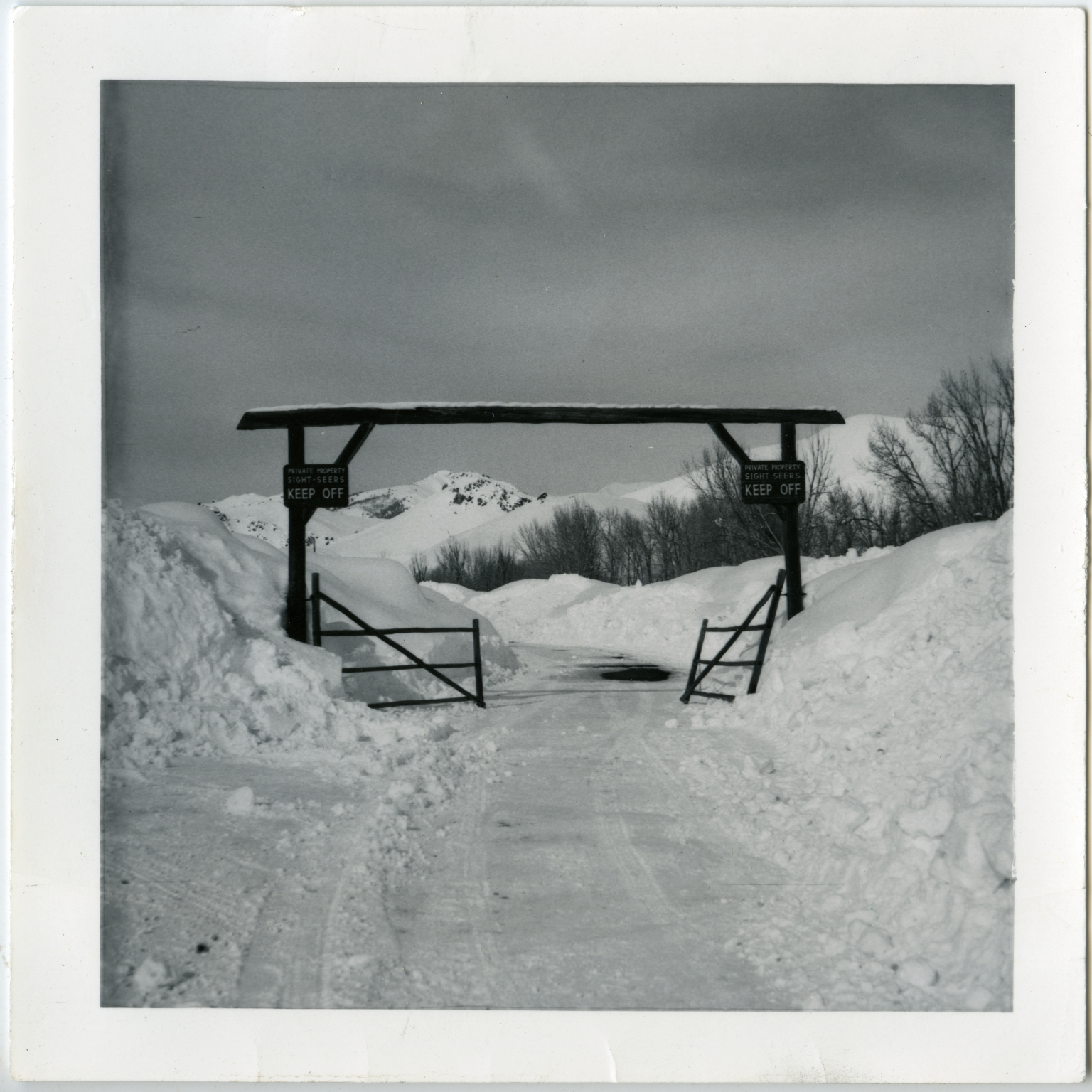 Gate in Winter in Ketchum
