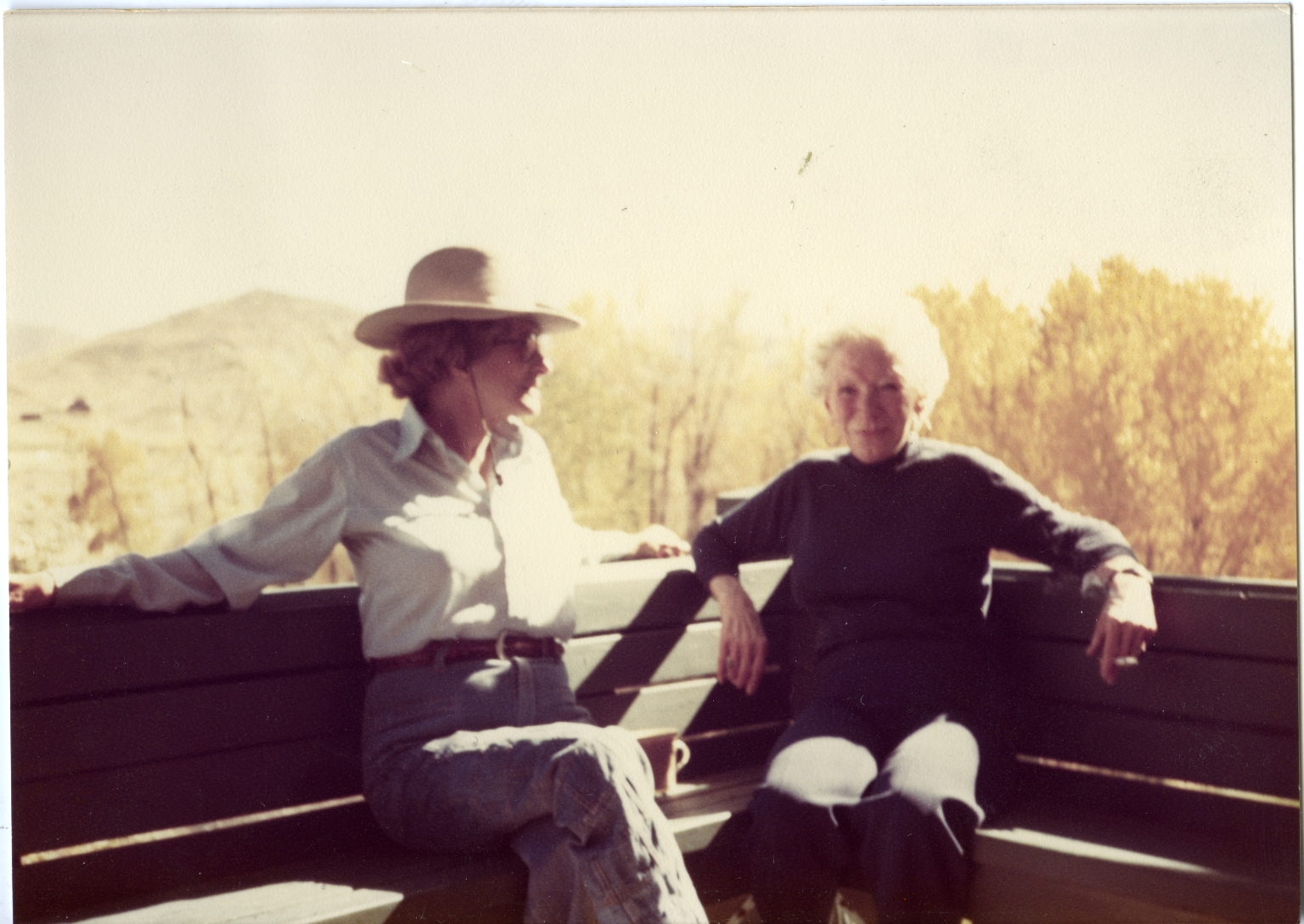 Mary Hemingway Seated Outside in Ketchum