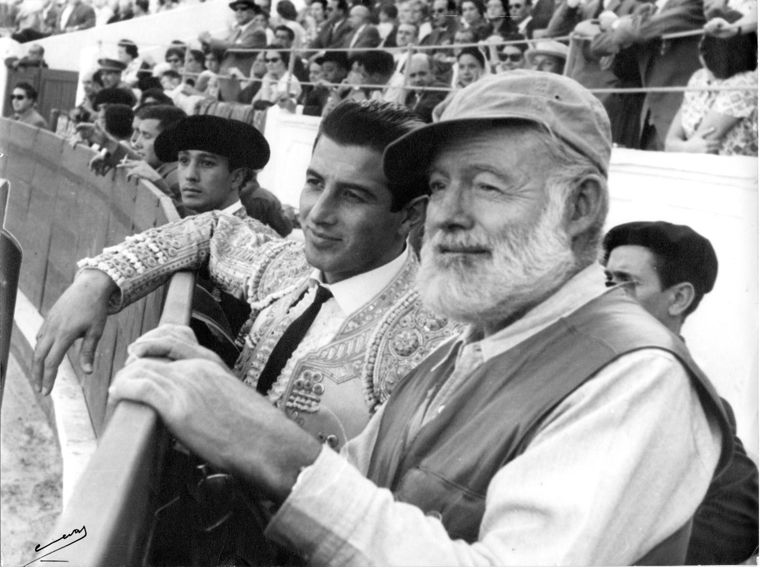 Ernest Hemingway and Antonio Ordonez at Bullfight